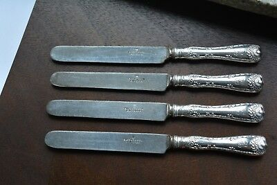 """Wave Edge by Tiffany & Co. Set of 4 Sterling Silver Dinner Knifes Blunt 9 1/4"""""""