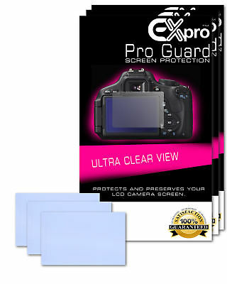 Ex-Pro® 3 x Pro Guard Ultra Clear View LCD Screen Protectors for Canon EOS 1200D