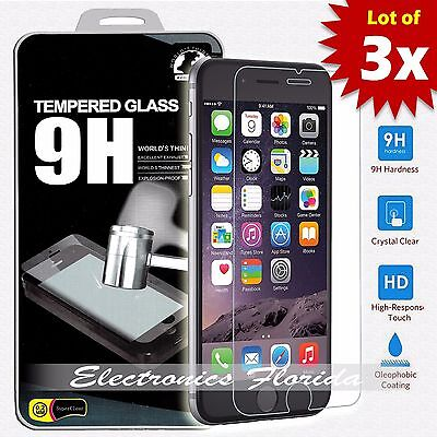 [3 Pack] for iPhone 8 Plus Tempered Glass Screen Protector (A+ Quality)