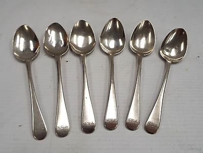 6 x STERLING SILVER Teaspoons London 1825 John William Blake 56g - C75