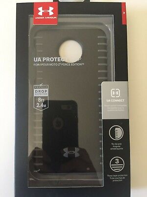 Under Armour Grip Series Hybrid Case Cover for Moto Z2 Force  Black / Graphite
