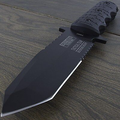 "9"" TACTICAL TEAM TANTO FIXED BLADE COMBAT KNIFE w/ SHEATH Hunting Survival"