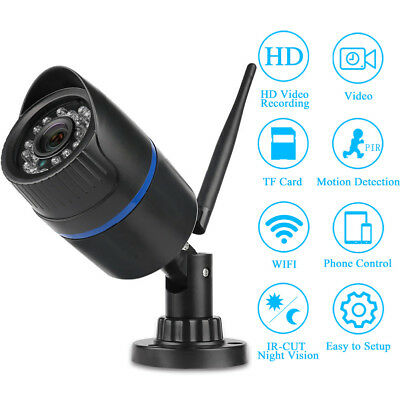 HD 1080P Wifi Wireless CCTV Outdoor Smart Security IP Camera Night Vision NEW