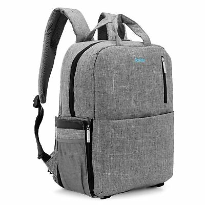 Outdoor 15.6'' Inch Laptop Backpack and Removable Camera Organizer Carrying Bag