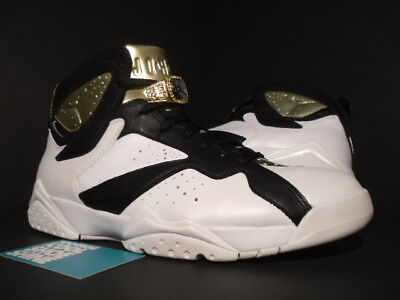 big sale 2a64f eb515 Nike Air Jordan VII 7 Retro C C CHAMPAGNE CHAMPIONSHIP PACK WHITE BLACK  GOLD 9.5