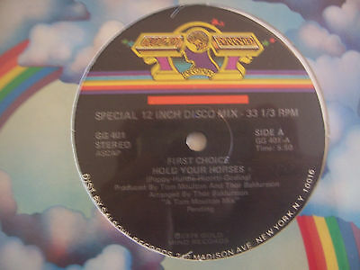 """FIRST CHOICE - Hold Your Horses - 12"""" Single USA PRESS"""
