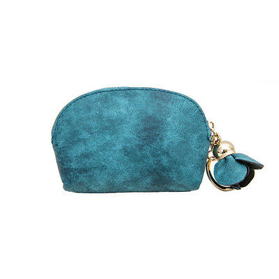 Korea Style Lady Green Faux Leather Wallet Card Key Holder Zip Coin Purse Clutch