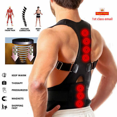 Posture Back Corrector Lumbar Shoulder Support Belt Brace Protector