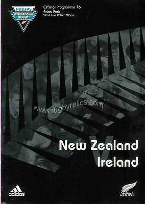NEW ZEALAND v IRELAND 2nd Test at Auckland 22 Jun 2002 RUGBY PROGRAMME