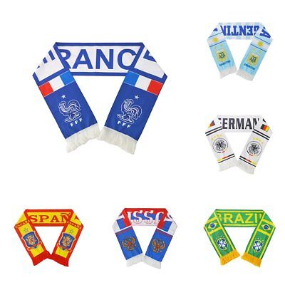 2018 Russia The World Cup Soccer Nation Teams Scarf Football Fans Souvenirs TU