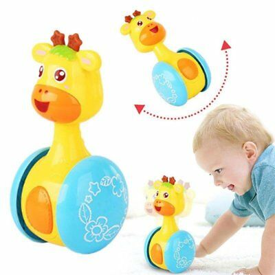 Baby Rattles Tumbler Doll Bell Music Learning Education Toys For 0-12 Months TU