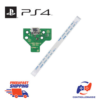 PS4 Controller USB charging socket port circuit board JDS-011 v1 12 pin + Cable