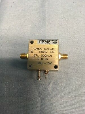 Mini-Circuits ZFL-500HLN 10 to 500 MHz SMA Coaxial Low Noise Amplifier