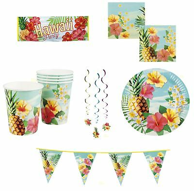 Hawaiian party, Luau, Hawaii beach cook-out,napkins banners plates party packs