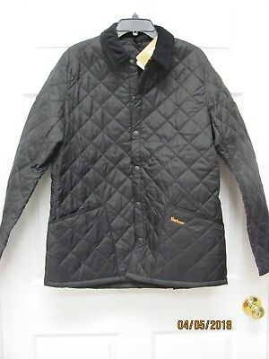 Barbour Heritage Liddesdale Jacket Black Quilted Washable Men M 38-40