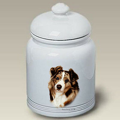 Ceramic Treat Cookie Jar - Red Merle Australian Shepherd (TB) 34202