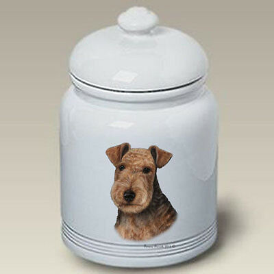 Ceramic Treat Cookie Jar - Lakeland Terrier (TB) 34315