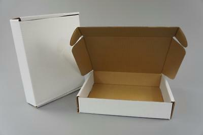 100 White Postal Cardboard Boxes Mailing Shipping Cartons Small Size Parcel OP11
