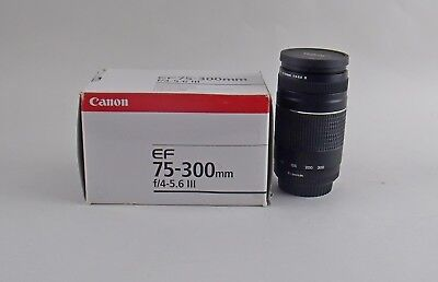 Canon EF 75-300mm F/4-5.6 III Zoom Lens New in Box Multiple Available