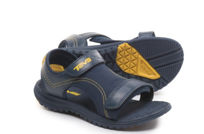 06b4f404699242 New Teva Psyclone Water Sandals Kids Boys 2 Navy Blue Hook Loop Tie Free  Ship