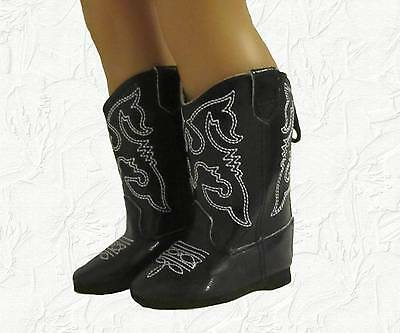 Doll Clothes Boots Cowboy Black Fit 18 inch American Girl