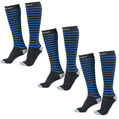 3 Pairs Abco Tech Athletic Sports Compression Socks Women Men Running Basketball