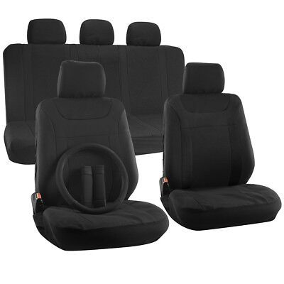 SUV Seat Cover for Toyota Highlander w/Steering Wheel/Head Rests Black Y Pattern