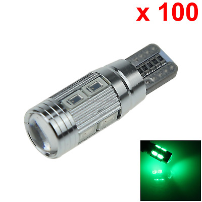 100x Green RV T10 W5W Reverse Light Backup Bulb Canbus Error Free 10 5630 SMD LE