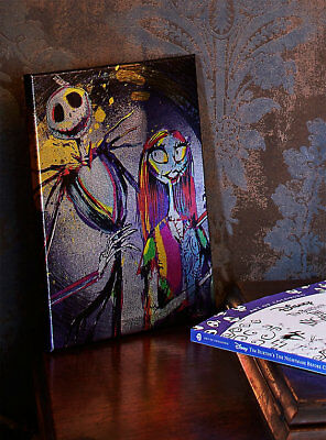 The Nightmare Before Christmas Metallic Jack & Sally Framed Magnetic Wall Sign