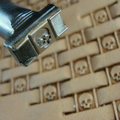 James Linnell - Skull Basket Weave Stamp (Leather Stamping Tool)