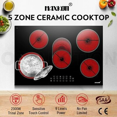 Electric Ceramic Cooktop with 8500W 5 Zone Touch Control Timer LCD & Child Lock