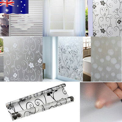 Hot PVC Frosted Glass Window Privacy Self Adhesive Film Sticker Bedroom Bathroom