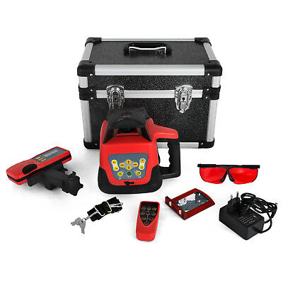 Auto Self-Leveling Horizontal Cross Line Rotary Laser Level kit 500M w/Case