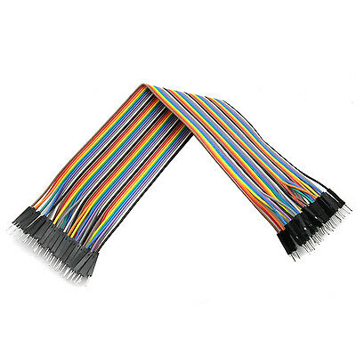 1 pc 40PCS 30cm 2.54mm Male to Male Dupont Cable Jumper Wire 1P-1P For Arduino