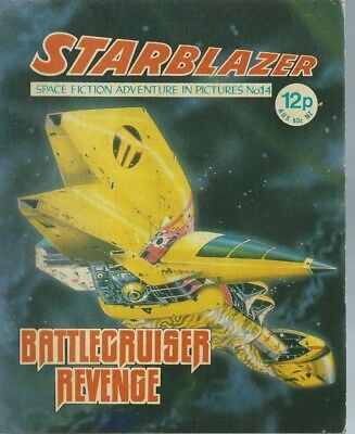 Battcruiser Revenge,starblazer Space Fiction Adventure In Pictures,comic,no.14
