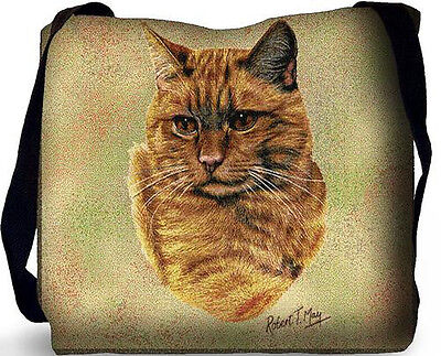 Woven Tote Bag - Red Tabby Cat 1952