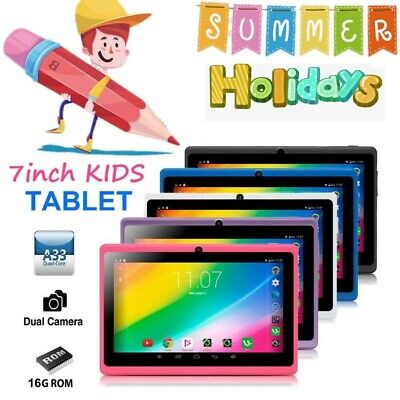 """7"""" Google Android Tablet 16GB Dual Camera Wifi Children PC Tablet for Kids Gift"""