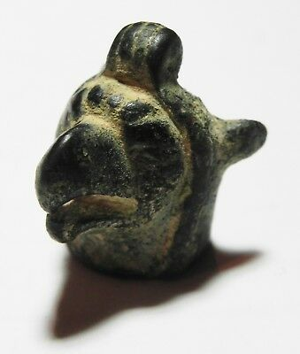 Zurqieh -As4363- Ancient Greek Bronze Head Of A Griffin. 700 - 600 B.c