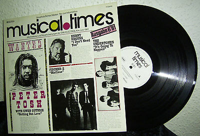 LP V/A MUSICAL TIMES - 6/81 * EMI GERMANY PROMO * Peter Tosh / Billy Squier* TOP