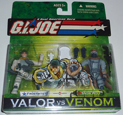 G.i.joe 2005 Frostbite Vs Snow Wolf 2-Pack Moc Neu & Ovp Gi Joe Cobra Selten