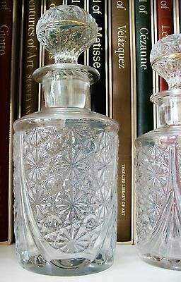 "RARE Antique BACCARAT Art Nouveau Perfume Bottle 5.75"" Tall~#4 of 6 ~Circa 1900"