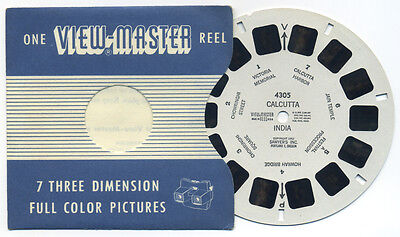 CALCUTTA India 1952 Sawyer's ViewMaster Single Reel 4305
