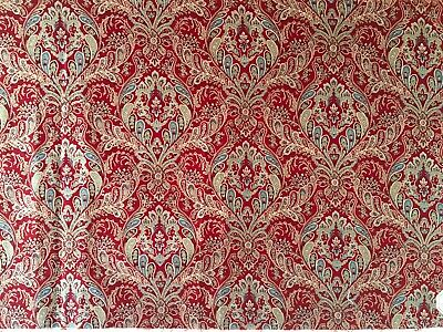 Beautiful antique 19th C. French Printed Paisley Fabric   (2319)
