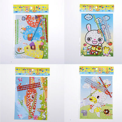 12X DIY Bling  Diamond Sticker Handmade Crysta Paste Painting Kids CraftLA