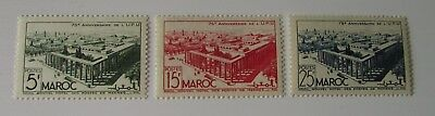Maroc French Morocco SC #256-58 MH stamps