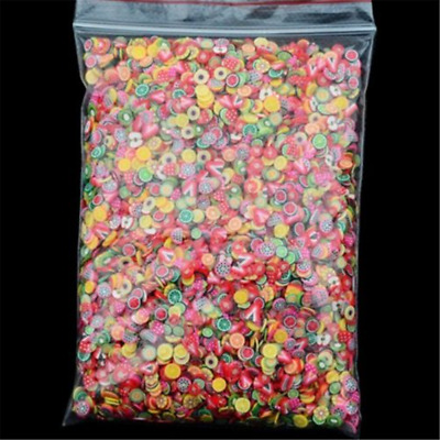 1000PC Mini Nail Art Mixed Fimo Slices Polymer Clay Stickers Decoration Manicure