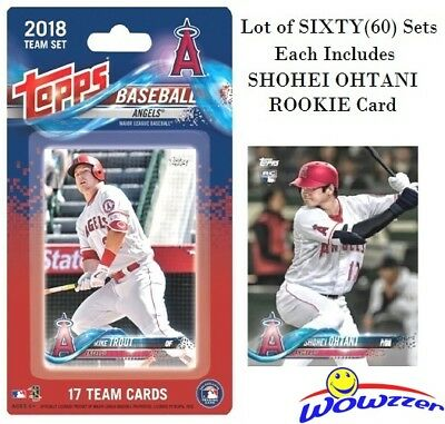 2018 Topps La Angels Exclusive Limited Edition 17 Card Team Set