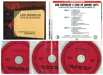 LED ZEPPELIN 3CD Live In Japan 1971 Osaka Festival Hall 9/20/1971 EVSD not  TMOQ