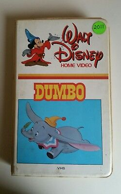 Walt Disney DUMBO White Clamshell VHS  Rare Classic Cartoon