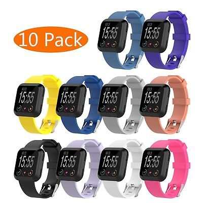 Silicone Replacement Band With Metal Buckle Wristband Strap for Fitbit Versa S/L